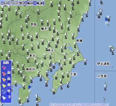 【2019.6.25】今日のサーフィン波情報と潮位(満潮/干潮)