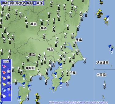 【2019.6.30】今日のサーフィン波情報と潮位(満潮/干潮)