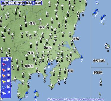 【2019.7.5】今日のサーフィン波情報と潮位(満潮/干潮)