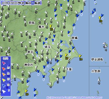 【2019.7.7】今日のサーフィン波情報と潮位(満潮/干潮)