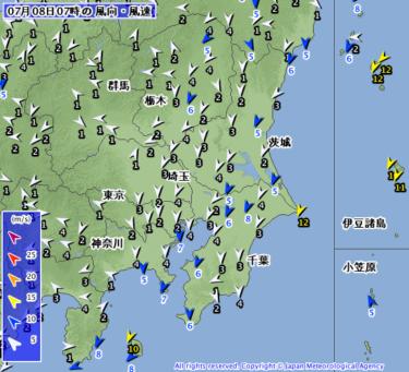 【2019.7.8】今日のサーフィン波情報と潮位(満潮/干潮)