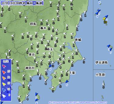 【2019.7.14】今日のサーフィン波情報と潮位(満潮/干潮)