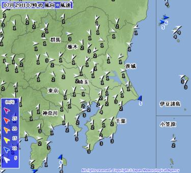 【2019.7.29】今日のサーフィン波情報と潮位(満潮/干潮)