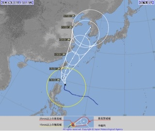 2019年台風5号(T1905)~太平洋側には南西うねりのいい波がブレイク