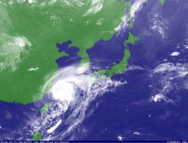 台風18号の南西うねりが西日本から反応、湘南は明日少しサイズアップ⁈【2019.10.1】