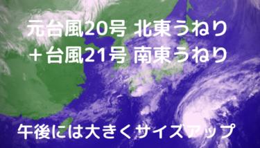 元台風20号の北東うねり+台風21号の南東うねり&強めの北東の風【2019.10.24】