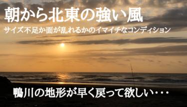 朝から北東の強い風により千葉はまとまりのない波、秋晴れは今日まで【2019.11.2】