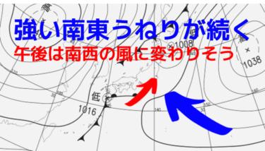 千葉は強い南東うねりで今朝もクローズアウト、湘南は程よいサイズで遊べる!【2019.11.24】