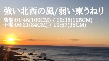 水曜は極強い南西の風で気温急上昇、木曜から北東うねり反応してくるか?【2020.1.6】