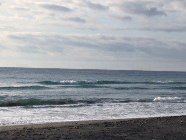 千葉と湘南共に物足りないサイズの波、今日も夕方に潮が大きく引きます【2020.2.20】