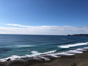 北東うねりがしっかり反応しワイドな冬の波、平日なのにサーファーたくさん! 【2020.2.28】