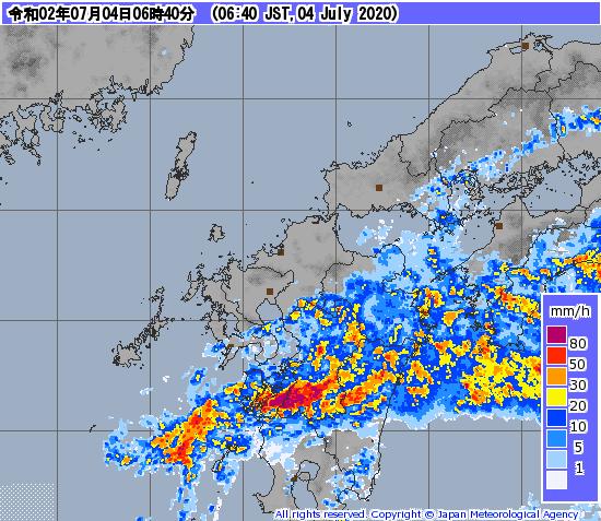 レーダー九州大雨