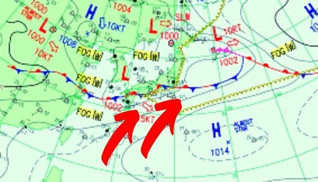 南西の波が反応するパターン