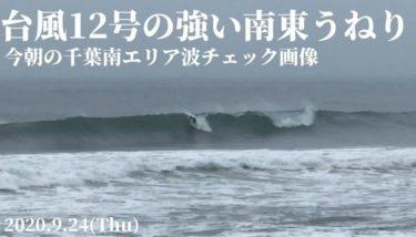 台風12号の波