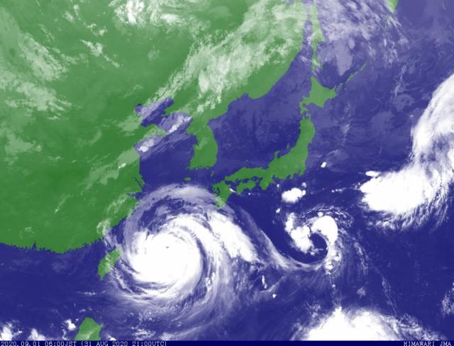 台風9号の状況