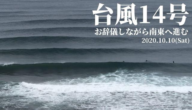 台風14号お辞儀