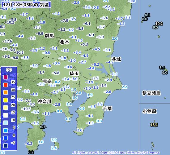 アメダス気温関東