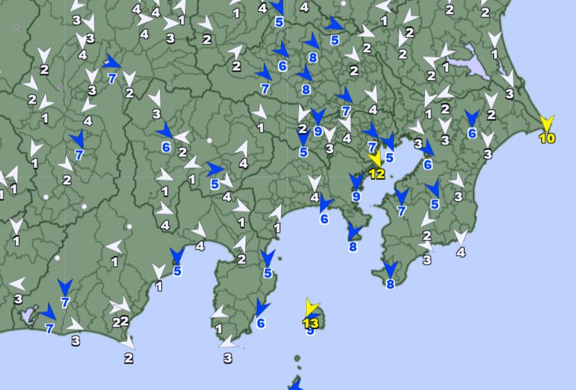 アメダス風向210303_0600