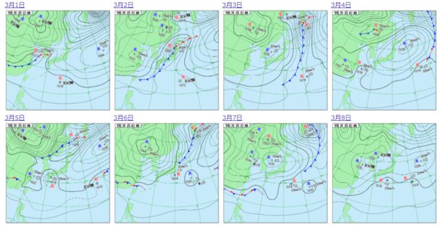 2021年3月上旬の気圧配置_1