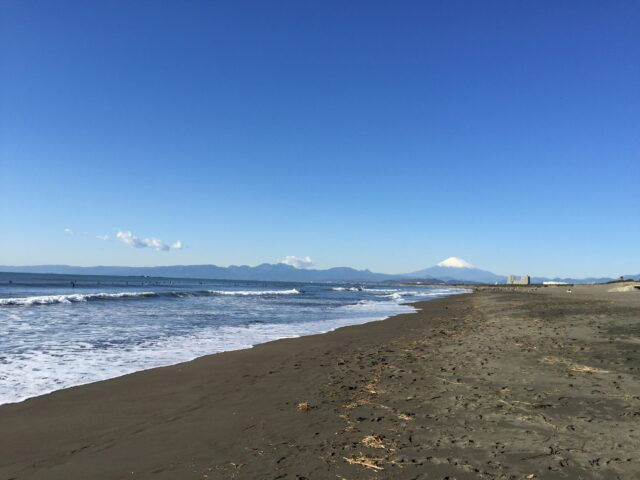 遠浅なビーチ
