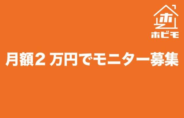 月額2万円モニター