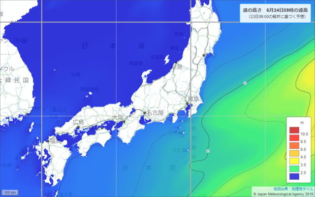 沿岸波浪実況図