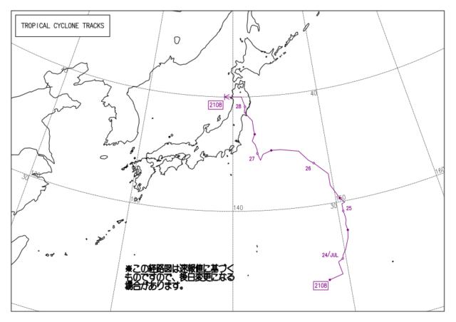台風経路図