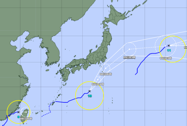 台風予想進路図_210807