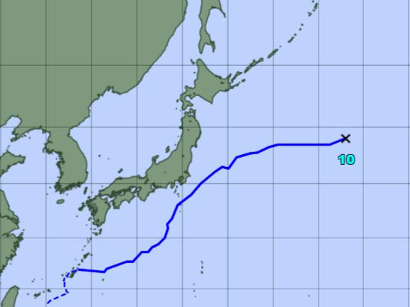 台風予想進路図_210811