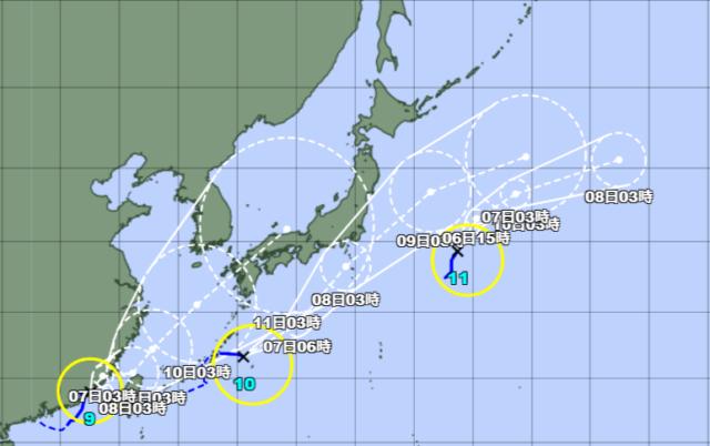 台風予想進路図_210806