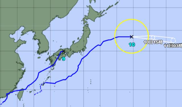 台風予想進路図_210810