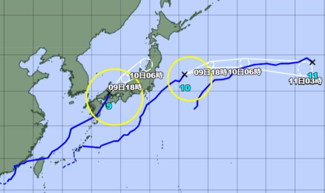 台風予想進路図_210809