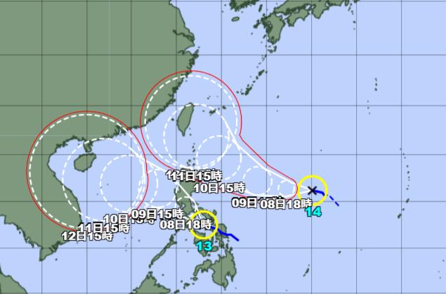 台風13-14号_210907