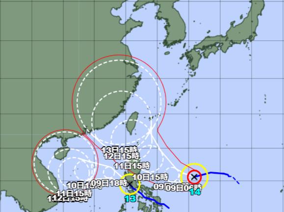台風13-14号_210908