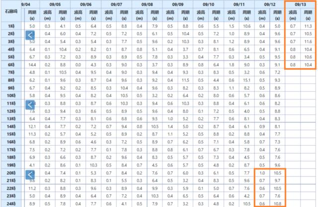 石廊崎の波浪観測データ_210913_06_data