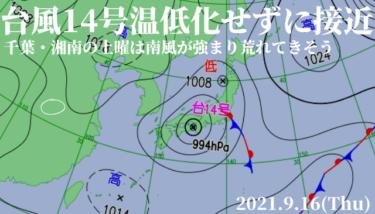 台風14号は温帯低気圧化せず