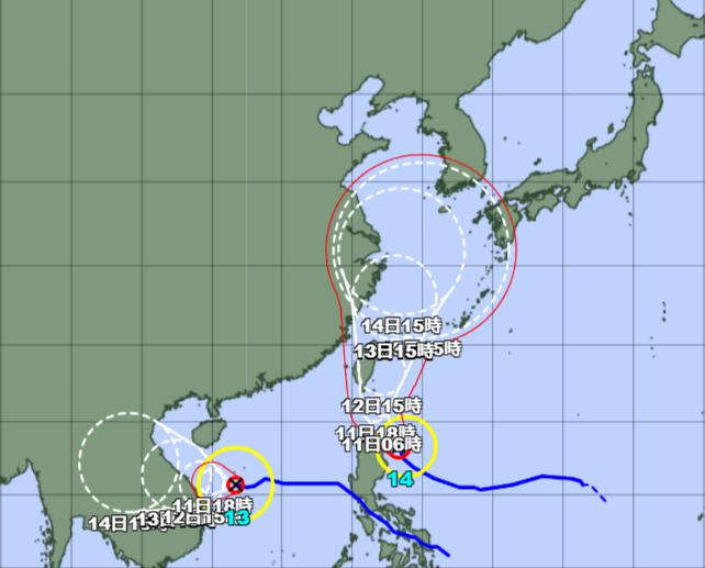 台風13-14号_210910