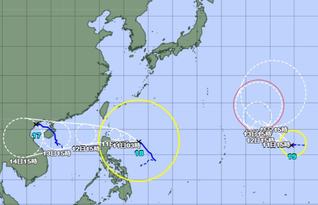 台風18-19号_211010