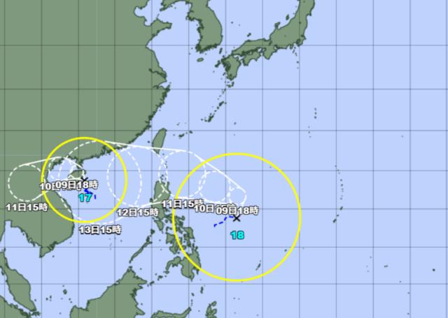 台風17-18号_211008