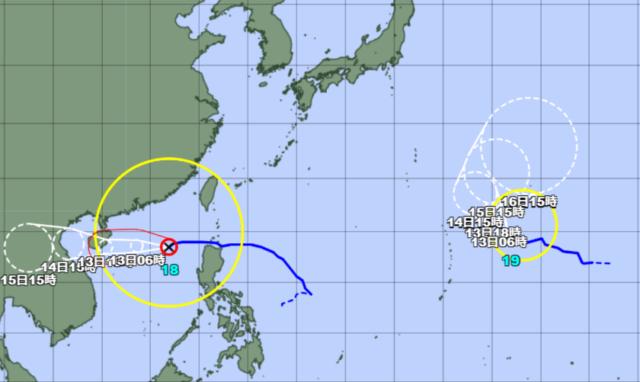 台風18-19号_211012