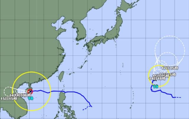 台風18-19号_211013