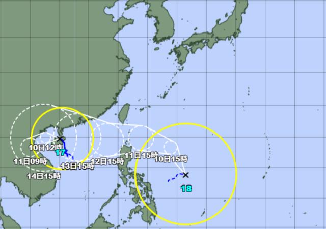 台風17-18号_211009