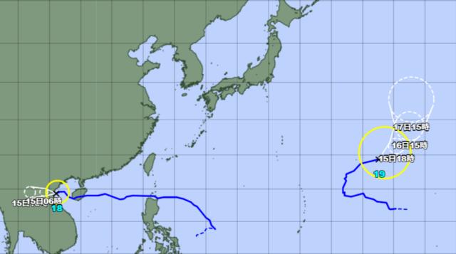 台風18-19号_211014