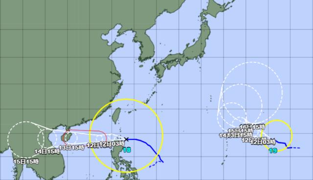 台風18-19号_211011