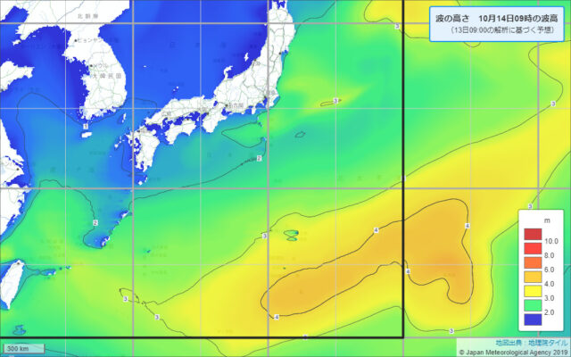 沿岸波浪予想図